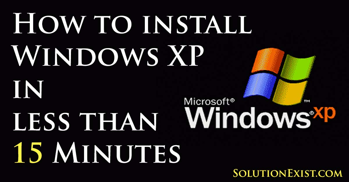 install windows xp faster