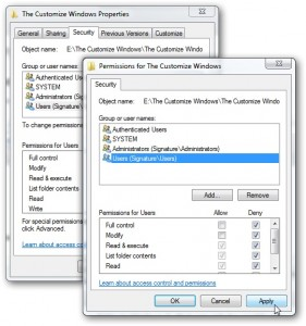 Creating A User Locked Folder In Windows 7, User locked in PC