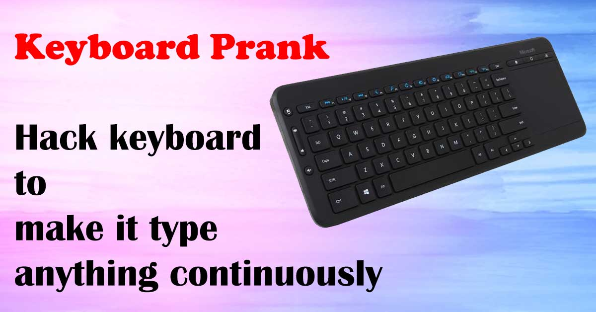 Ghost Keyboard Typing Trick