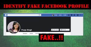 Identify fake facebook Account
