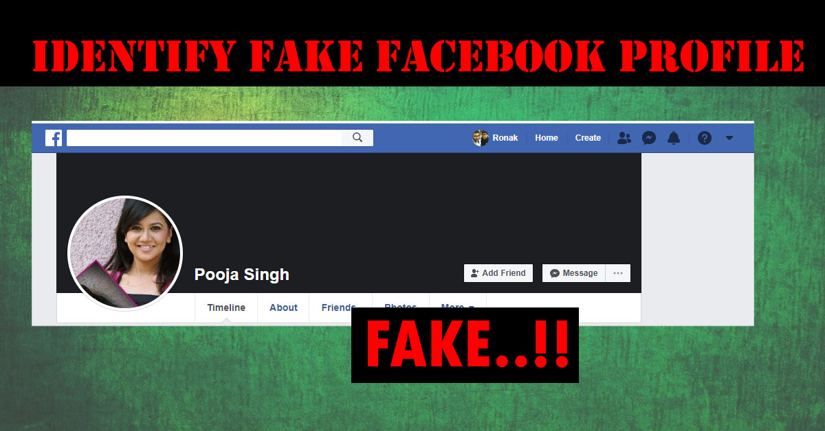 Facebook pics fake profile How to
