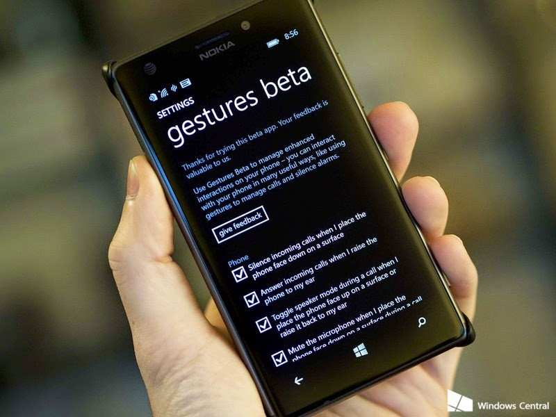 Now Access Various Features In Lumia Just By Gesture