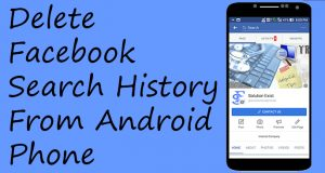 delete facebook search history permanently