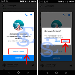 How to remove non friends from facebook messenger 4