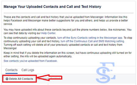 delete messenger contacts