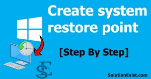 create a system restore point windows 10