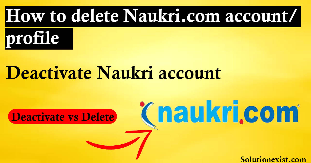 Delete Naukri account permanently