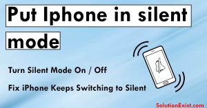 iPhone silent mode