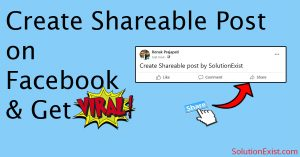 make facebook post sharable