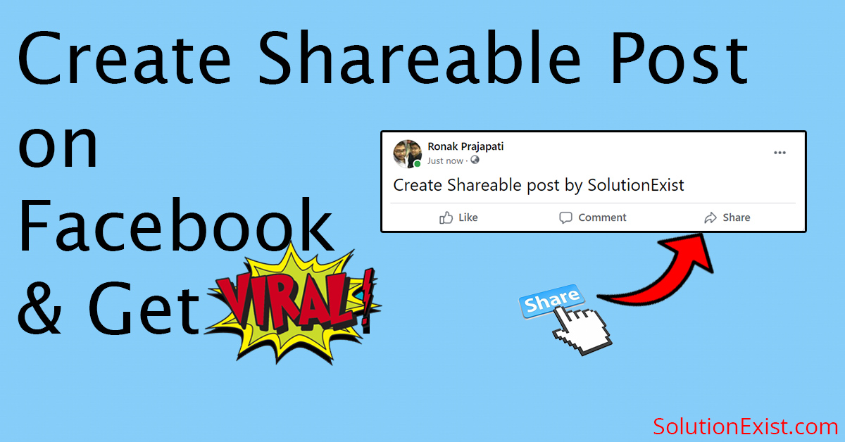Make Facebook Post Shareable